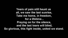 DragonForce - Heroes Of Our Time (Lyrics)