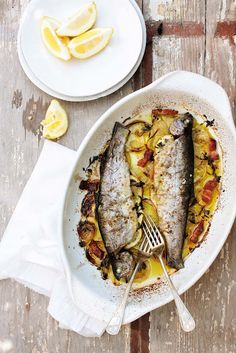 portuguese lemon trout (truta assada)