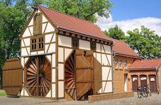 Scheunenwindmühle in Saalow, Brandenburg (ursprünglich Podemus in Sachsen).