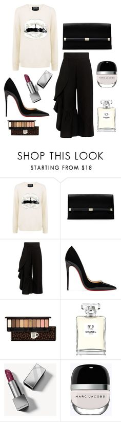 """""""Snow White Kiss"""" by emeille ❤ liked on Polyvore featuring Markus Lupfer, Diane Von Furstenberg, Rachel Comey, Christian Louboutin, Etude House, Chanel, Burberry and Marc Jacobs"""