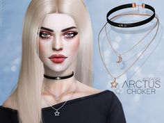 Arctus Choker for The Sims 4 by Pralinesims, custom content Sims 4 Mods, Sims 3, Sims 4 Tsr, The Sims 4 Pc, Sims Four, Sims 4 Mm Cc, Sims 4 Piercings, Pelo Sims, Sims4 Clothes