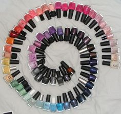 nail polishes anyone?....and i thought i was addicted to nail polishes.