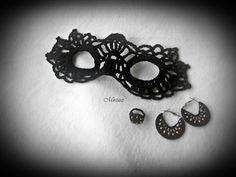 Mirtusz : Farsang - Horgolt álarc Brooch, Jewelry, Jewlery, Jewerly, Brooches, Schmuck, Jewels, Jewelery, Fine Jewelry