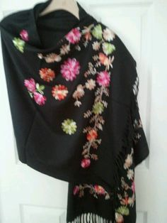 Beautiful floral shawl....Sure to garner compliments!