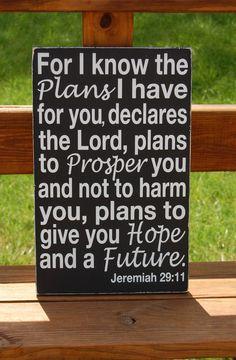 Jeremiah 2911 Christian Scripture Subway Art by WordsForTheSoul, via Etsy.