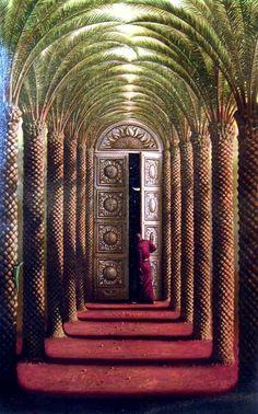 DOORS OF THE NIGHT  43 x 25  Edition: 325 by Vladimir Kush