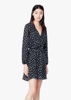 Belt printed dress - Dresses for Women | MANGO