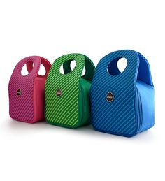 Milkdot Stöh Insulated Lunch Totes: Stripe Collection  These lunch totes are such a fun yet functional way to brighten up your child's day! It even has an ID tag to customize your tote with a name tag or picture of your child.