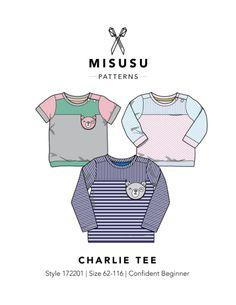 Charlie Tee PDF Sewing Pattern - Misusu Patterns