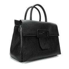 MAISON MARGIELA. Textured leather bag with buckle.  Borsa realizzata in pelle leggermente testurizzata. Presenta una linguetta con chiusura magnetica sul davanti - decorata da una grande fibbia. Tracolla rimovibile. La borsa ha sul retro i quattro punti caratteristici di Maison Margiela. Altezza - 21 cm. Lunghezza - 30 cm. Profondità  -13 cm. Col. Nero. Made in Italy.  #Margiela2017 #Margiela #MaisonMargiela #BorseDonna #Moda #Fashion #MontorsiBoutique #ViaEmilia87 #MontorsiModena #Modena…