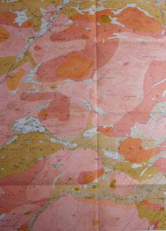 1916 Geologic Map:  Blue Mountain, New York. Indian Lake, Long Lake, Raquette River, Steamboat Route. Original Antique.