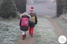 Walking to School in France. To be recommended more for our schoolchildren.