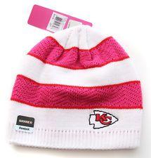 CUTE!!! Kansas City Chiefs Breast Cancer Awareness Hat Made by Reebok