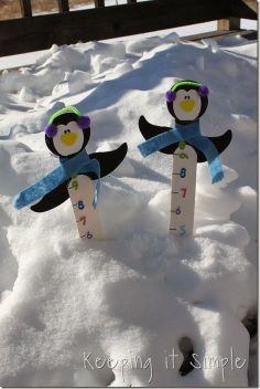 Μετρητής ύψους χιονιού_πιγκουίνος..