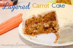 Delectable Layered Carrot Cake with orange cream cheese frosting - DELICIOUS! cake baking dessert