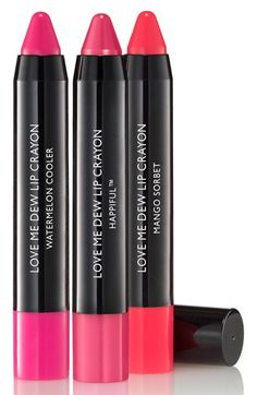 Laura Geller Beauty 'Love Me Dew' Lip Crayon Trio ($48 Value) available at #Nordstrom