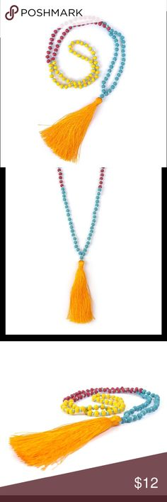 NEW fab-u-lous tassel necklace. Must have summer necklace! Jewelry Necklaces