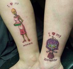 so funny mom daughter tattoo