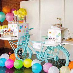 Ideas, decoración y manualidades para fiestas: Ideas para una fiesta de bicicleta y como mesa de dulces