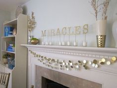 """String together a sparkling gelt garland using plastic coins and your hot glue gun. 22 Holiday Decor Hacks That'll Make You Say """"Why Didn't I Know About These Sooner? Hanukkah Crafts, Feliz Hanukkah, Jewish Crafts, Hanukkah Decorations, Christmas Hanukkah, Happy Hanukkah, Jewish Hanukkah, Christmas Hacks, White Christmas"""