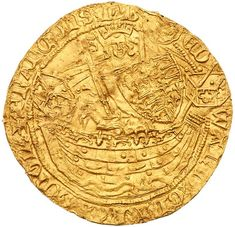 Edward III Gold Half-Noble of three shillings and four pence, third coinage, third p Old British Coins, Gold Bullion, Rare Coins, Silver Coins, Great Britain, Vintage Art, Auction, Metal Detecting, Fountain Pens
