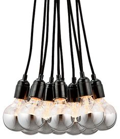 Exposed-bulb Chandeliers - Chicago Home + Garden - Summer 2012 - Chicago