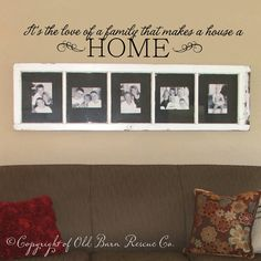 Vinyl Wall Decal - Its the love of a family... - home decor wall sticker lettering art design via Etsy