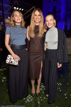 Terrific trio: Suki Waterhouse, 25, (M) proved her star quality runs in the family as she ...