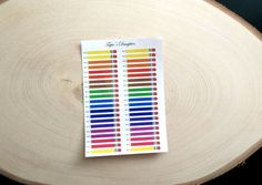 Multicolored thin pencil stickers for school by TapiosDaughter