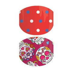 Dia De Los Ninos | Red backgrounds, polka dots, and sugar skulls make for a fun take on Latin folklore.