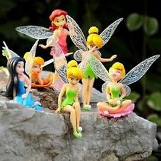 6 DISNEY TINKERBELL FAIRY / FAIRIES FIGURES CAKE TOPPERS DECORATIONS UK SELLER