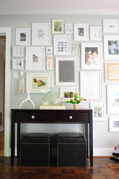 All their wall art is so wonderfully personal, meaningful, and more creative than a bunch of family photos | Young House Love