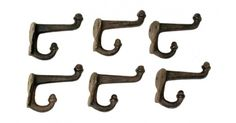 #tosimplyshop Lot of Six Rust Finished Cast Iron Double Acorn Hooks #gifts #homedecor #gardendecor #decor #home #garden #shopping