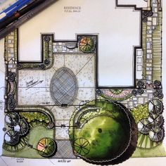 Adding charm and distinction to the front of the property. #SWH #landscapearchitecture #design #art #drawing #rendering #color #marker #masterplan