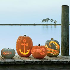 Download our free templates and get step-by-step instructions for carving a nautical pumpkin, from starfish to fish, compasses, and more.