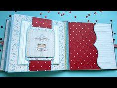 Tutorial mini álbum paso a paso. Parte 5. Decoración de página con tarjeta deslizante. - YouTube