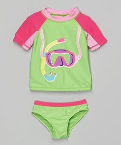 Another great find on #zulily! Sweet & Soft Green Snorkel Rashguard Set - Infant & Toddler by Sweet & Soft #zulilyfinds