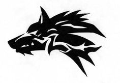 tribal wolf head - Buscar con Google