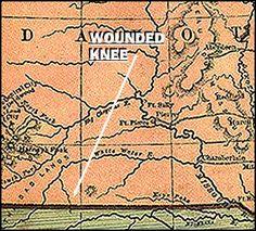 The Wounded Knee Massacre occurred on December 29, 1890,[4] near Wounded Knee Creek (Lakota: Čhaŋkpé Ópi Wakpála) on the Lakota Pine Ridge Indian Reservation in South Dakota, USA. It was the last battle of the American Indian Wars.