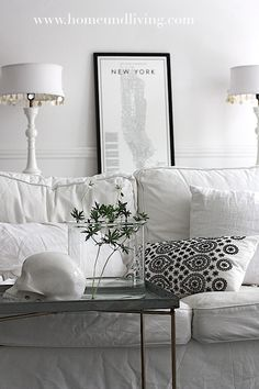 Living Room - shades of white