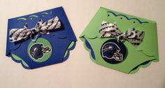 Seahawks baby shower diaper invitations