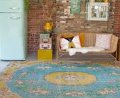 """Vintage carpets can be easily bought in our web shop. These rugs are pervaded with a long history and turned into unique pieces, also referred to as """"overdyed"""". Handmade Rugs, Vintage Rugs, My Dream Home, Outdoor Blanket, New Homes, Carpet, Kids Rugs, House, Pip Studio"""