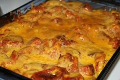 Grilled Cheese and Tomato Soup Casserole