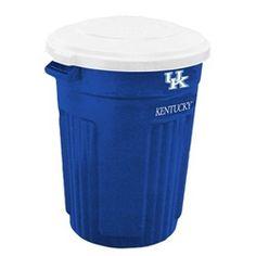 Kentucky Wildcats Trash Can Rubbermaid Commercial 32 Gallon