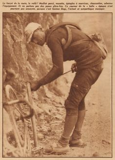 Tour de France 1922. Gaston Degy (1890-1964) [Miroir Sprint]