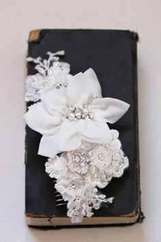 GENEVIEVE beaded bridal headpiece - perfect for vintage wedding hairstyles by @Percy Handmade