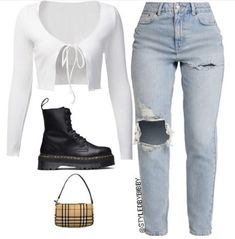 Fall Outfits For Women You'll Want To Copy This Year - Nienca Teen Fashion Outfits, Swag Outfits, Retro Outfits, Look Fashion, Prep Fashion, Cute Comfy Outfits, Stylish Outfits, Cool Outfits, Winter Outfits