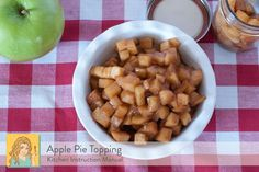 Enjoy the flavors of Apple Pie with this filling over #memorialday | see the post for different ways to use it all weekend | K.I.M.