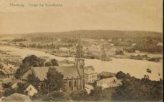 Tønsberg, utsikt fra Slottsfjellet. Foto: Georg Martinsen