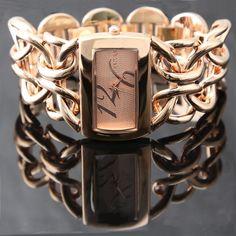 ALEXIS Brand Modish Watches For Fashion Women Rectangular Rose Gold Tone Dial Ladies Bracelet Watch FW675C